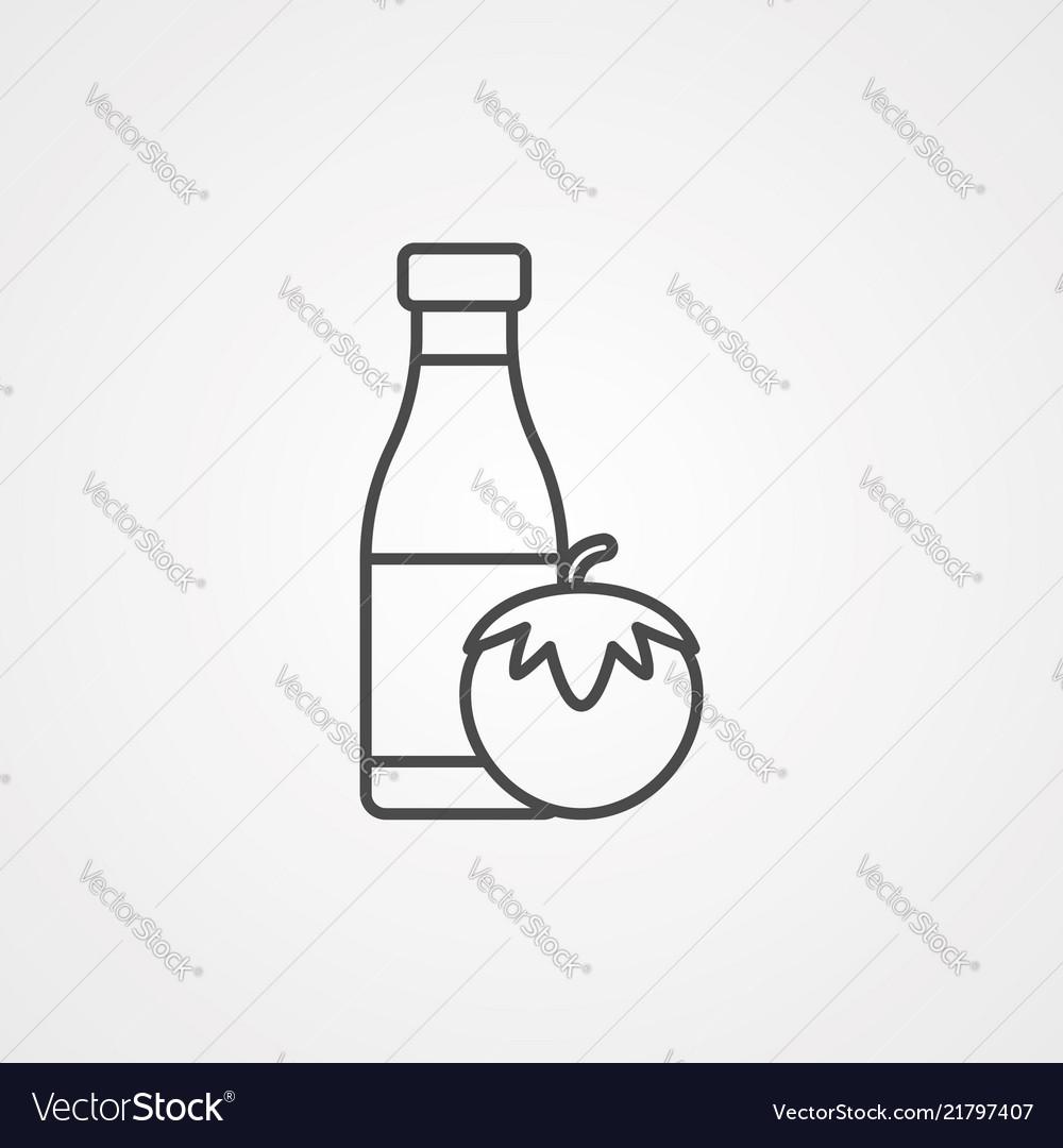 Ketchup icon sign symbol