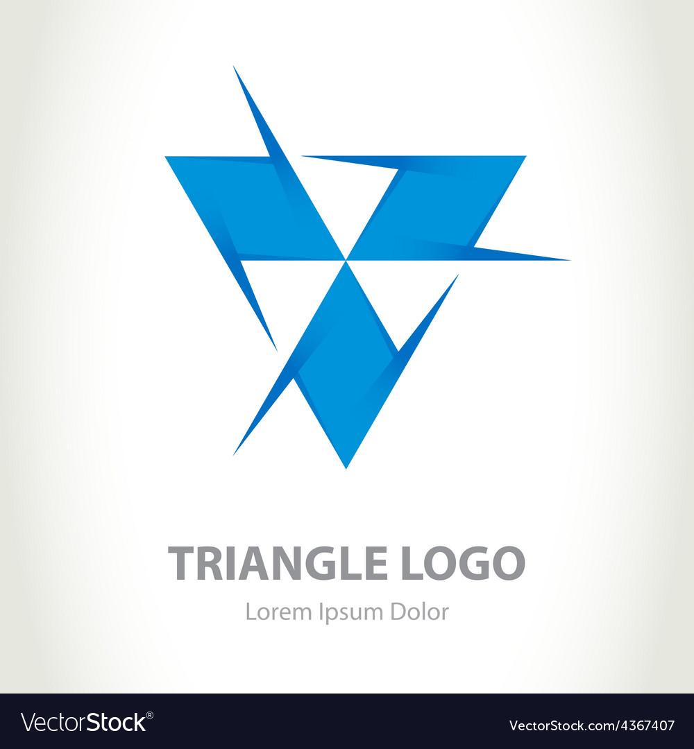 Triangle - logo design template Business icon