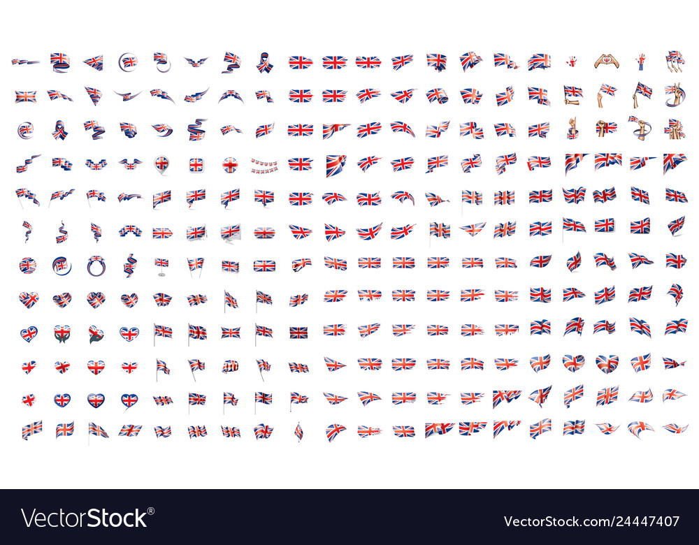 Very big collection of flags of the united