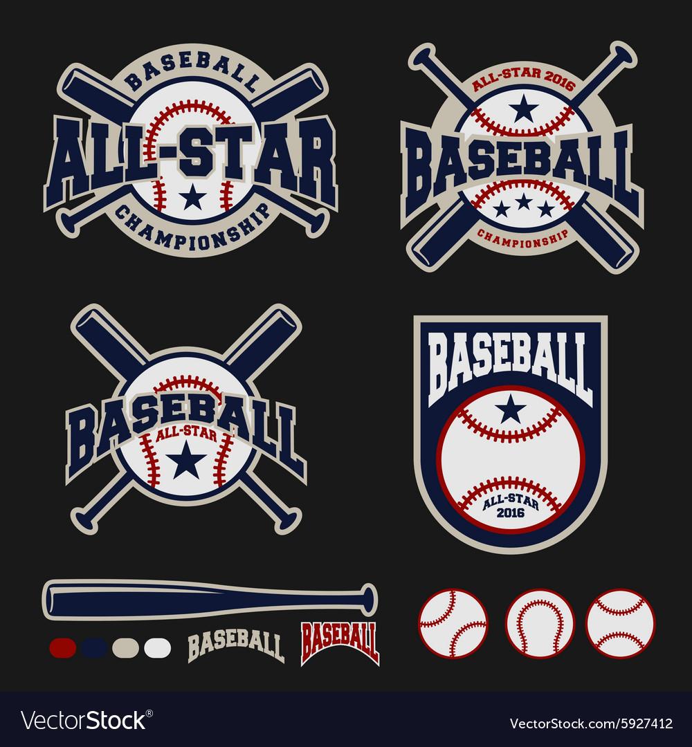 Baseball badge logo design for logos
