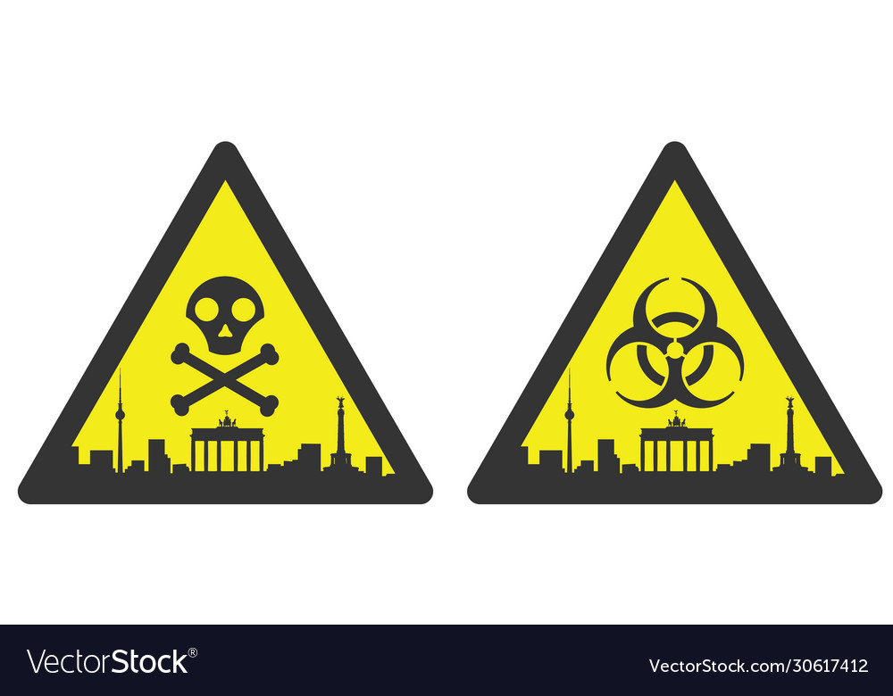 Berlin danger emergency biological hazard signs