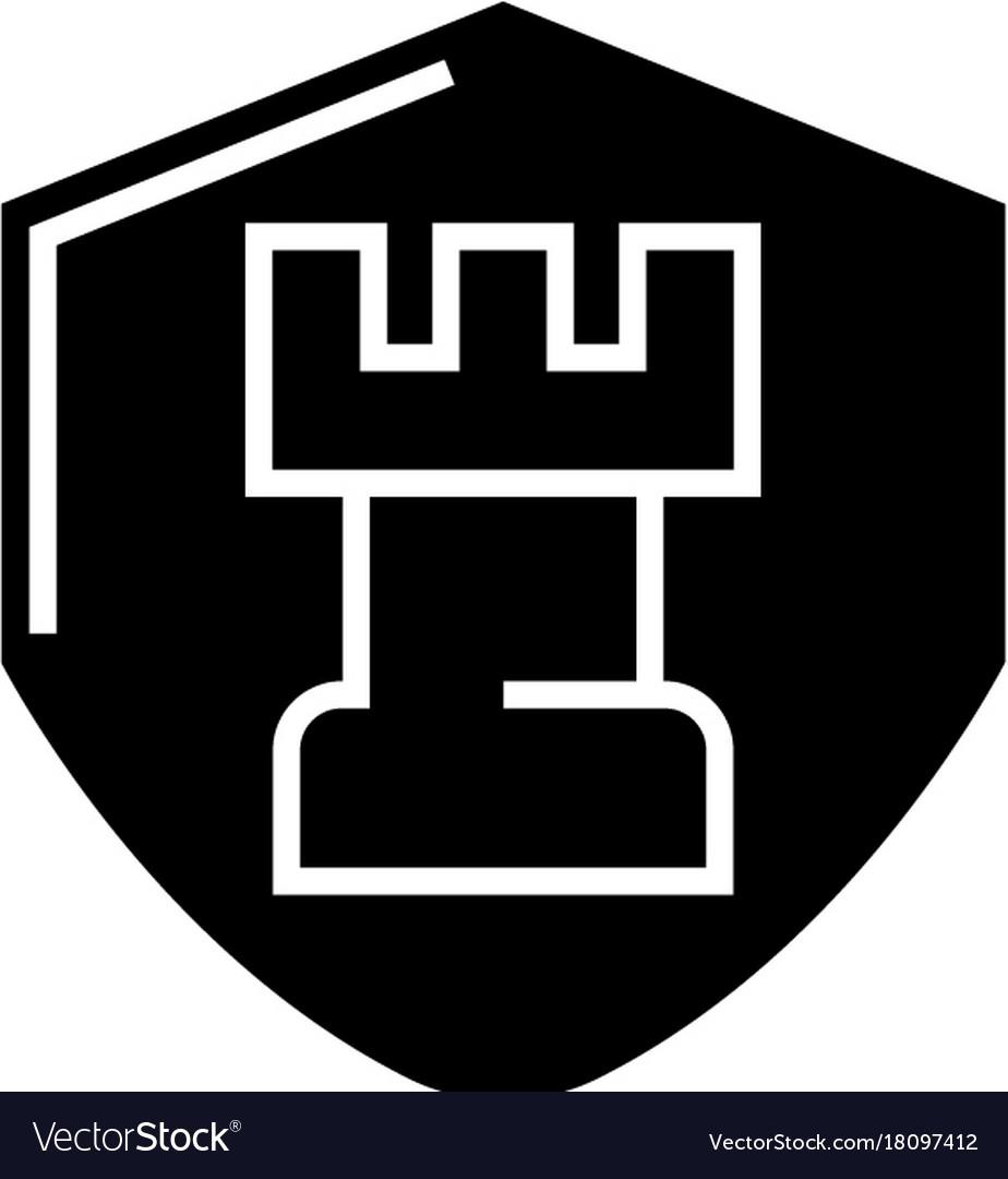 Chess tactics icon black