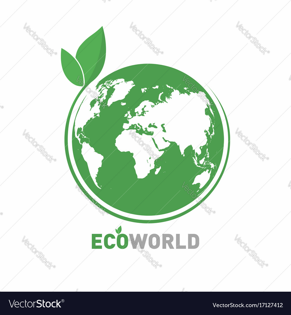 Ecology logo eco world symbol icon eco friendly