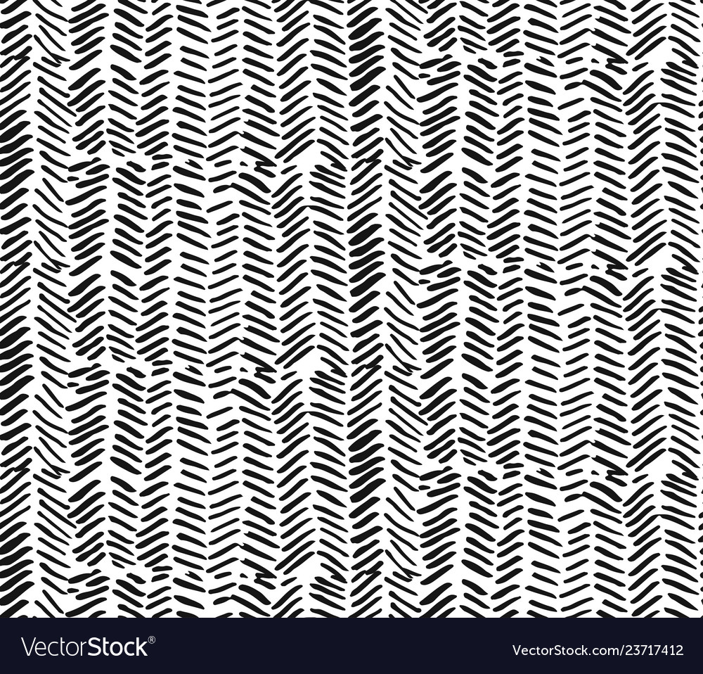 Hand drawn graphic brush strokes textured zig zag