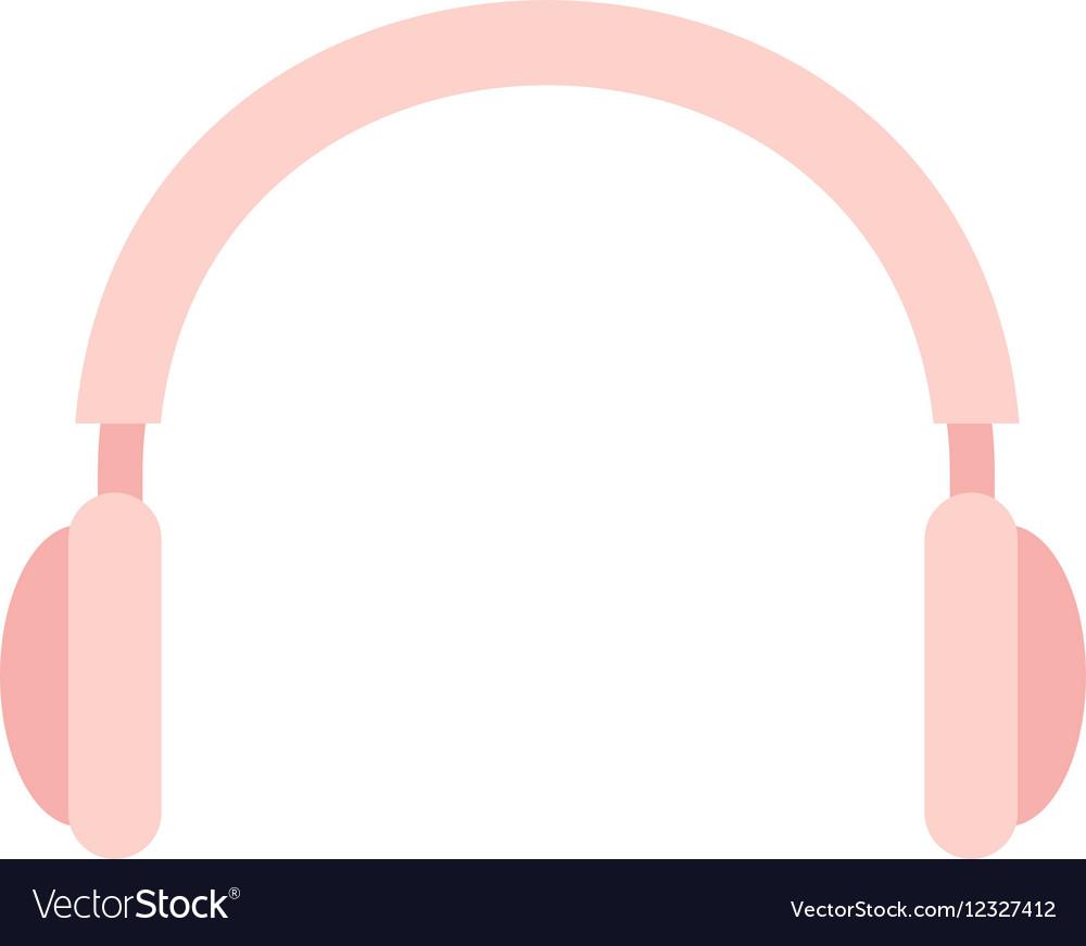 Headphone audio device isolated icon vector image