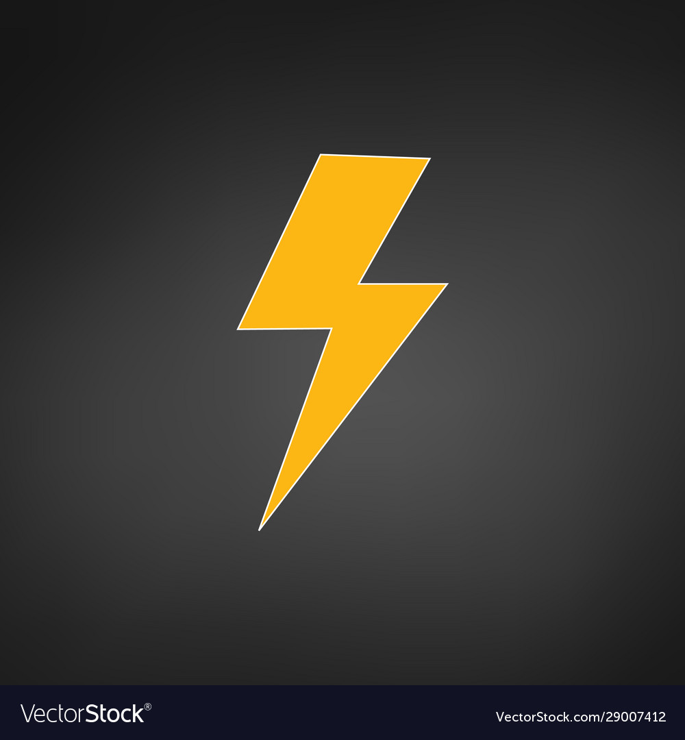 lightning electric power logo design element vector image vectorstock