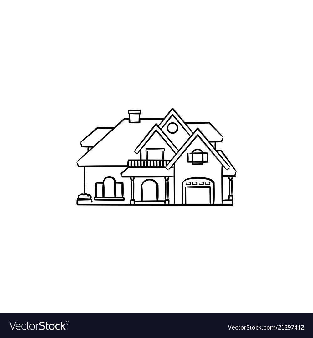 Private house hand drawn outline doodle icon