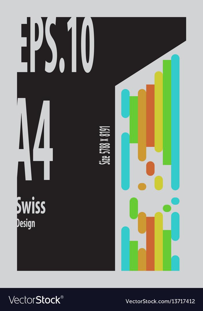 Swiss design vector image