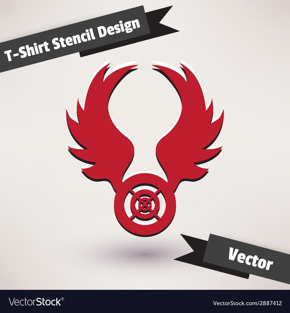 T-Shirt Stencil Design Template for your design