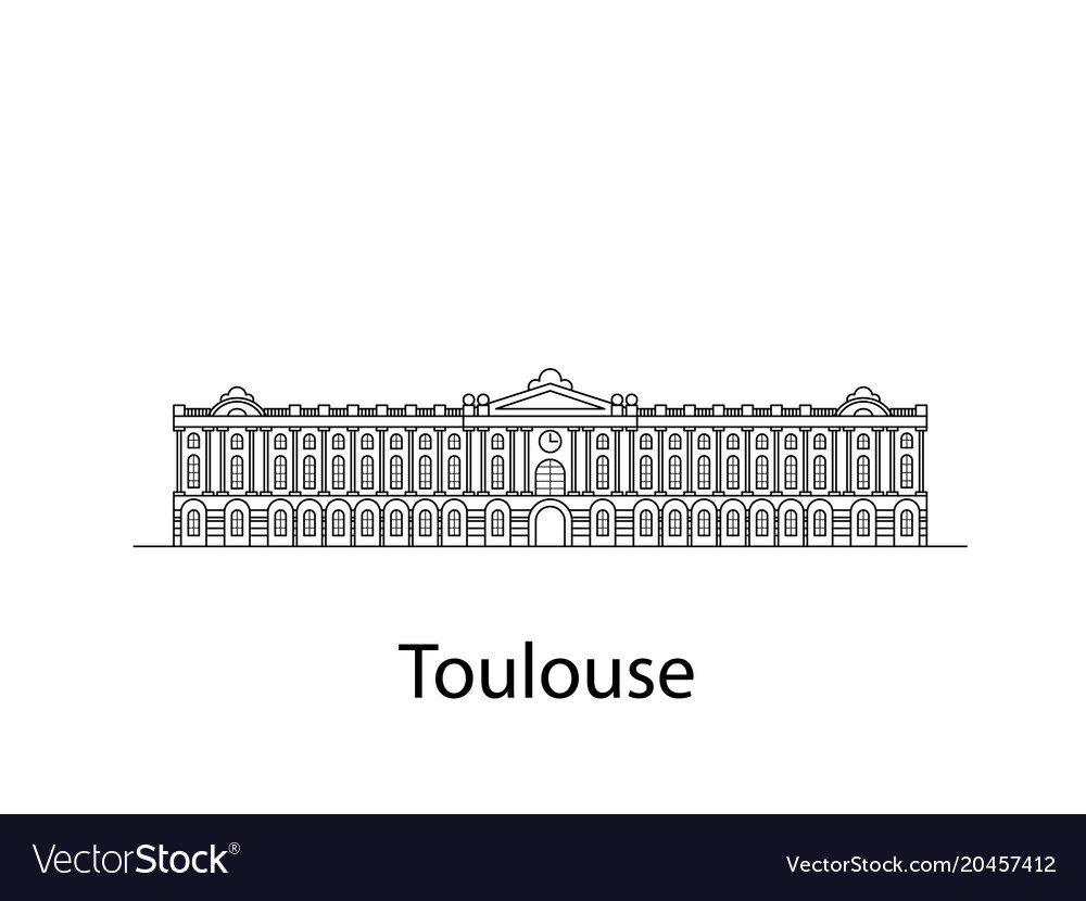 Toulouse is france vector image