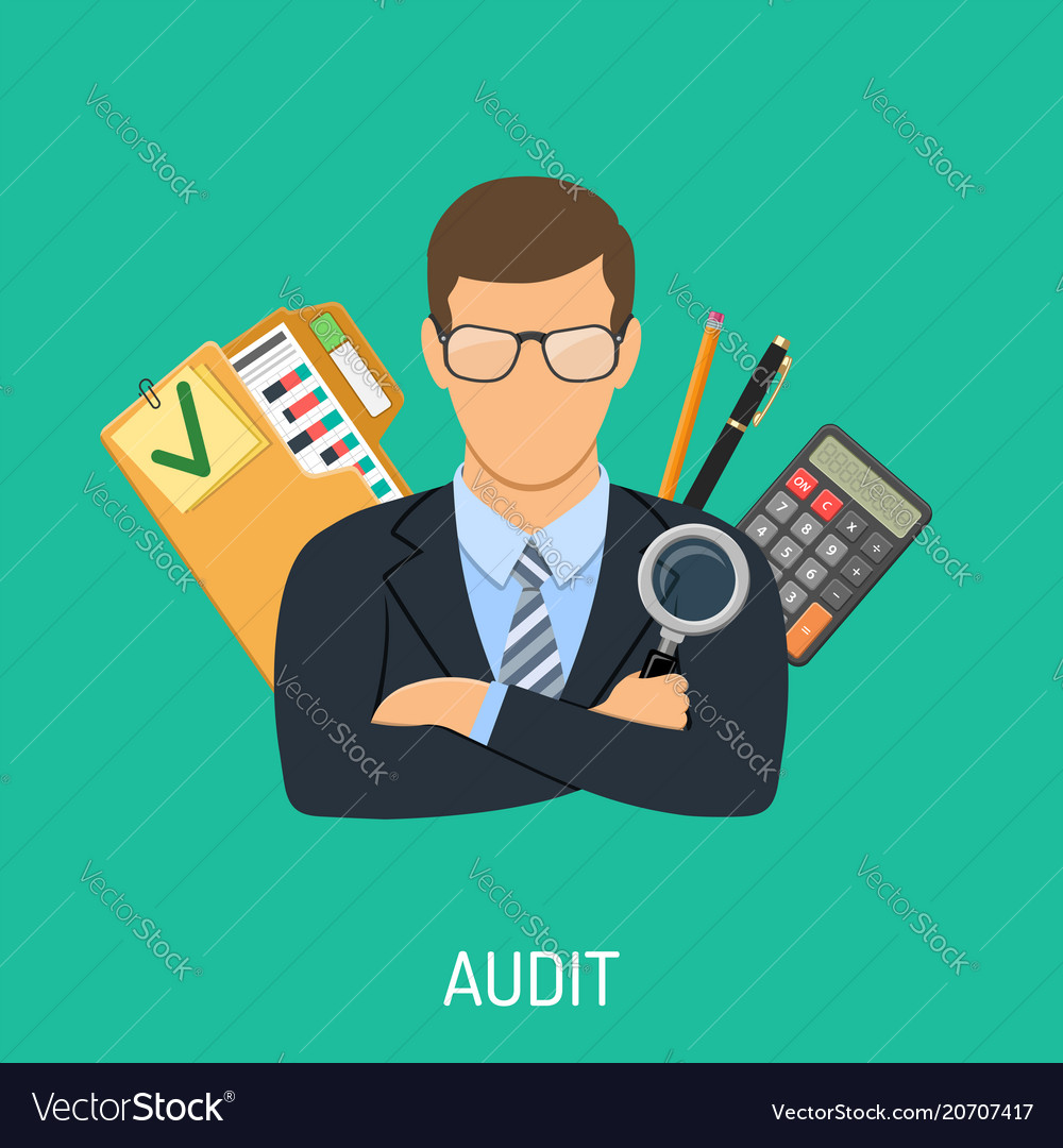 auditor and accounting concept royalty free vector image