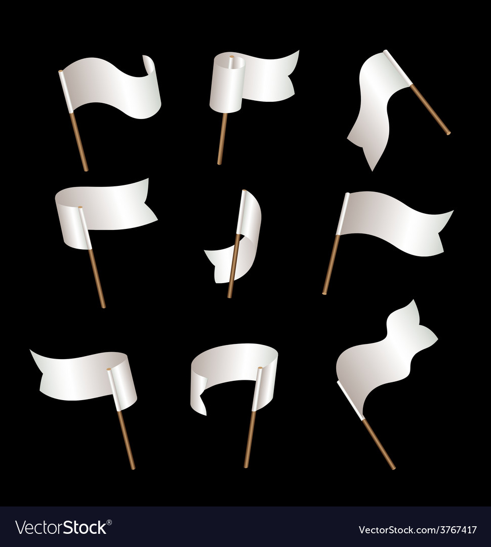 Flagset white vector image