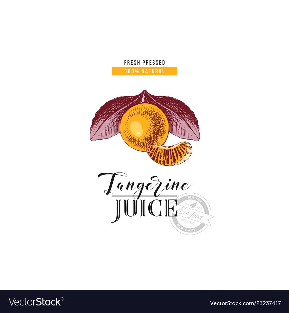 Fresh pressed natural tangerine juice background