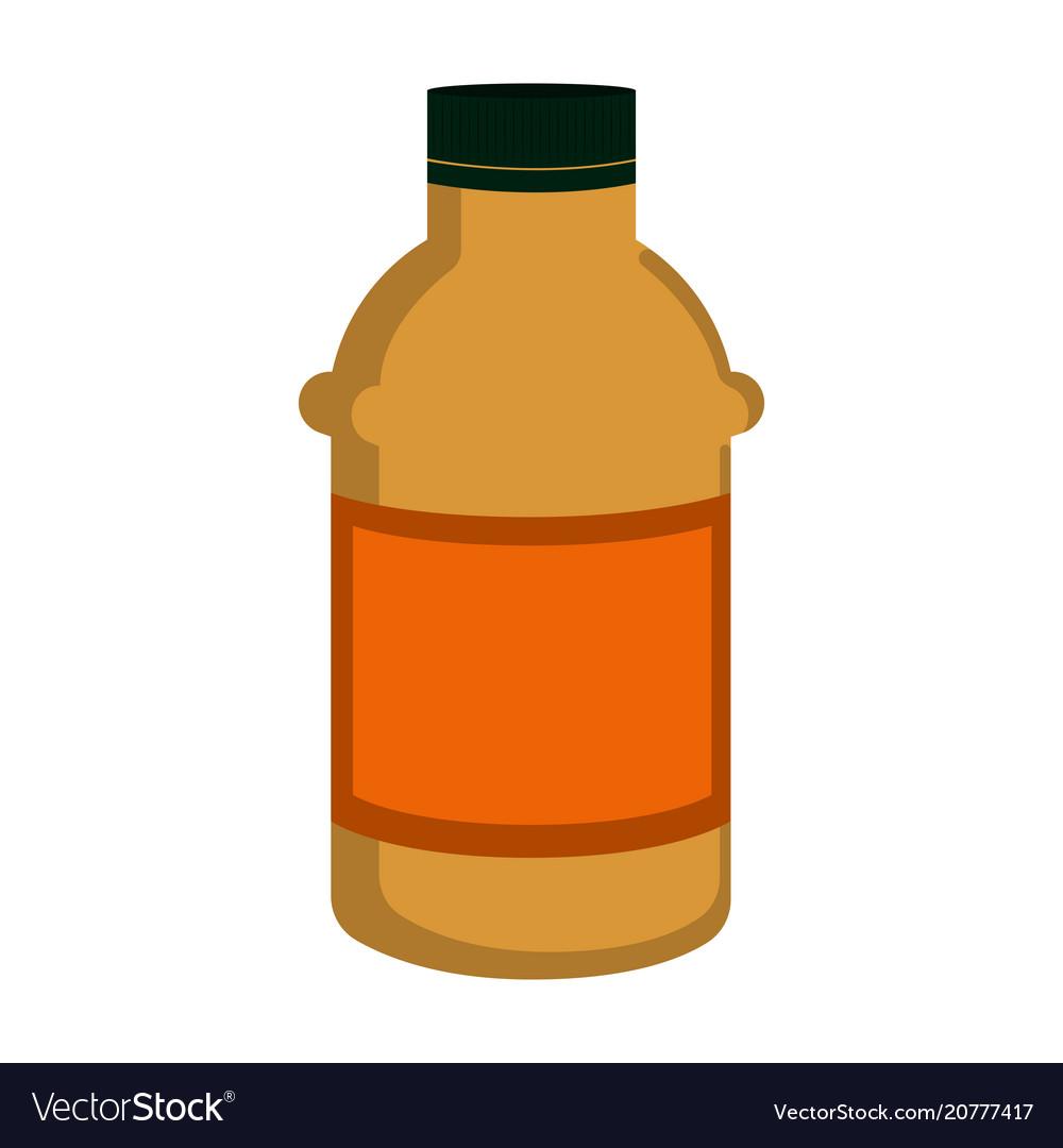 Isolated mustard bottle icon