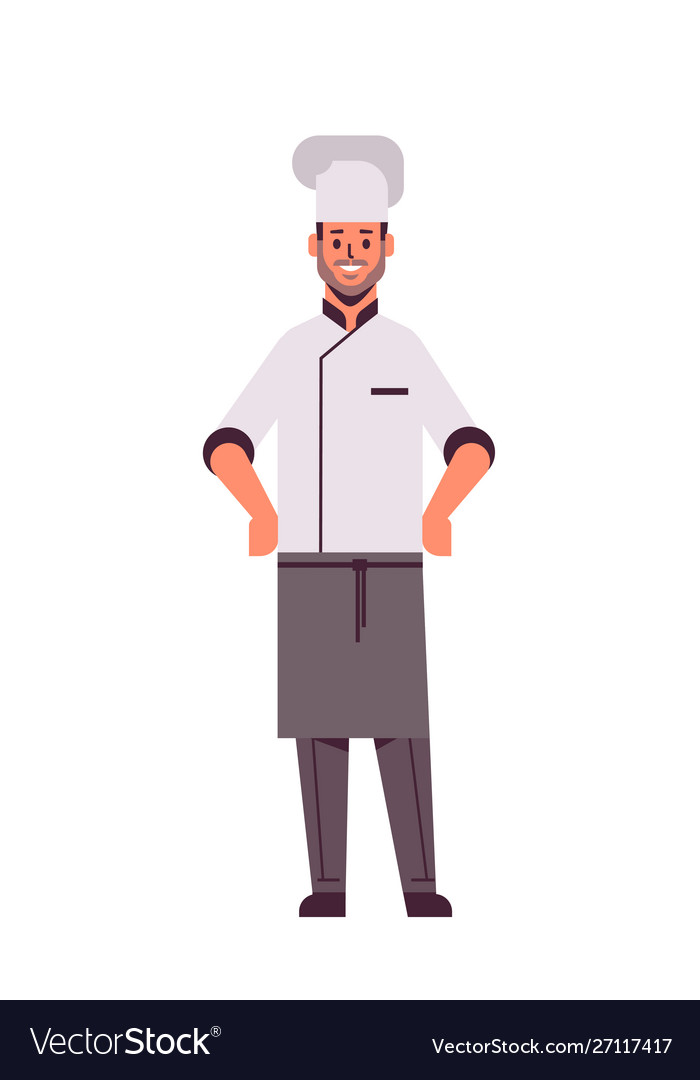 Male professional chef cook standing pose man