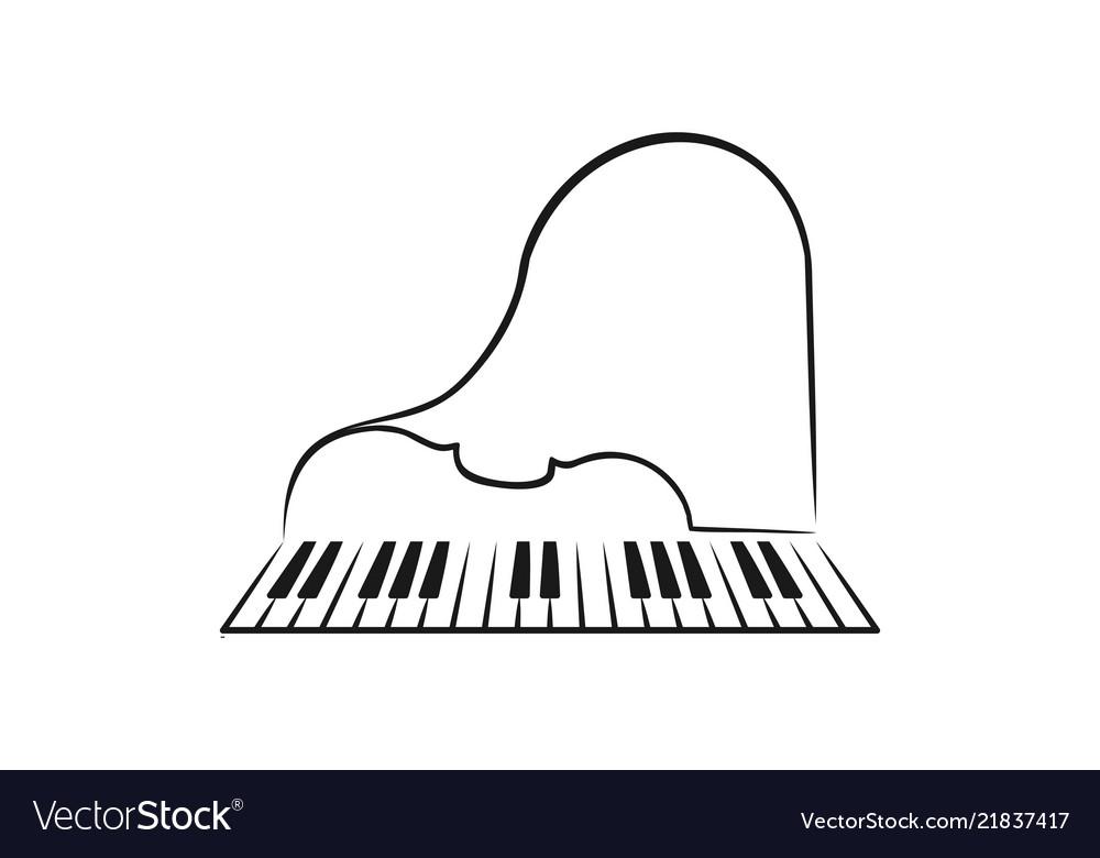 Piano and violin logo icon design