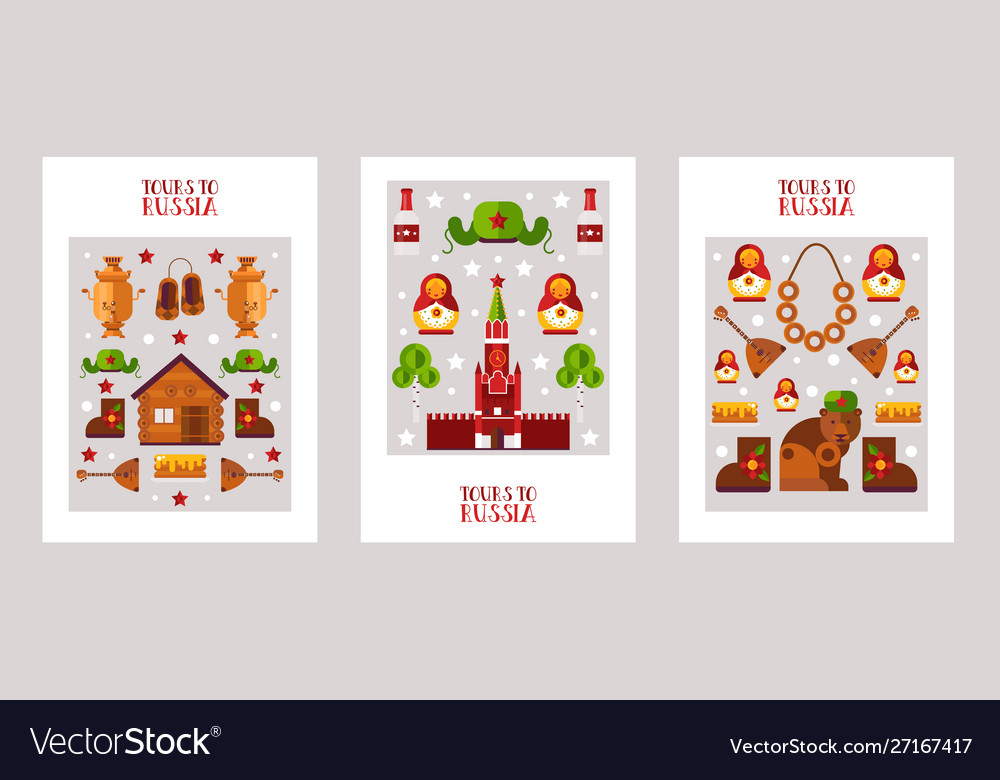 Russia sightseeing tour posters
