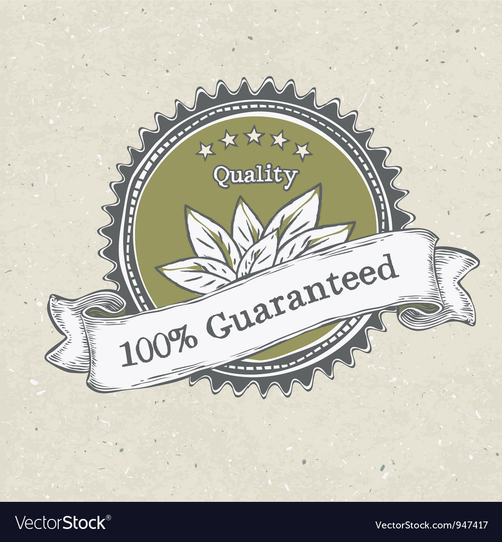Vintage label organic products vector image