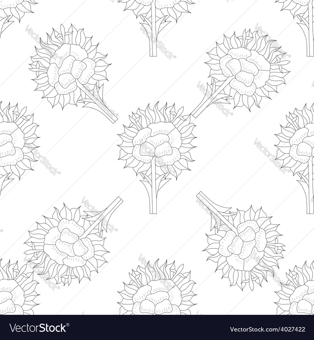 Abstract seamless pattern with flower vector image