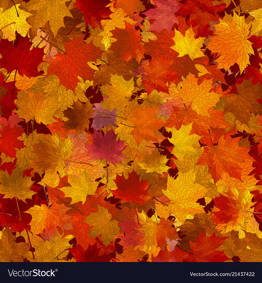 Autumn maple leaves seamless background