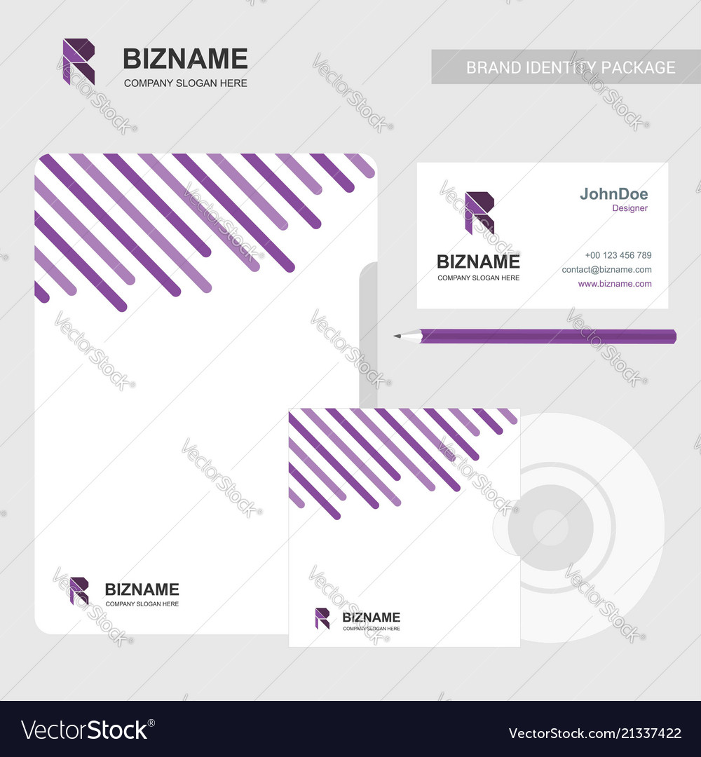 Brochure with company card and cd case with r