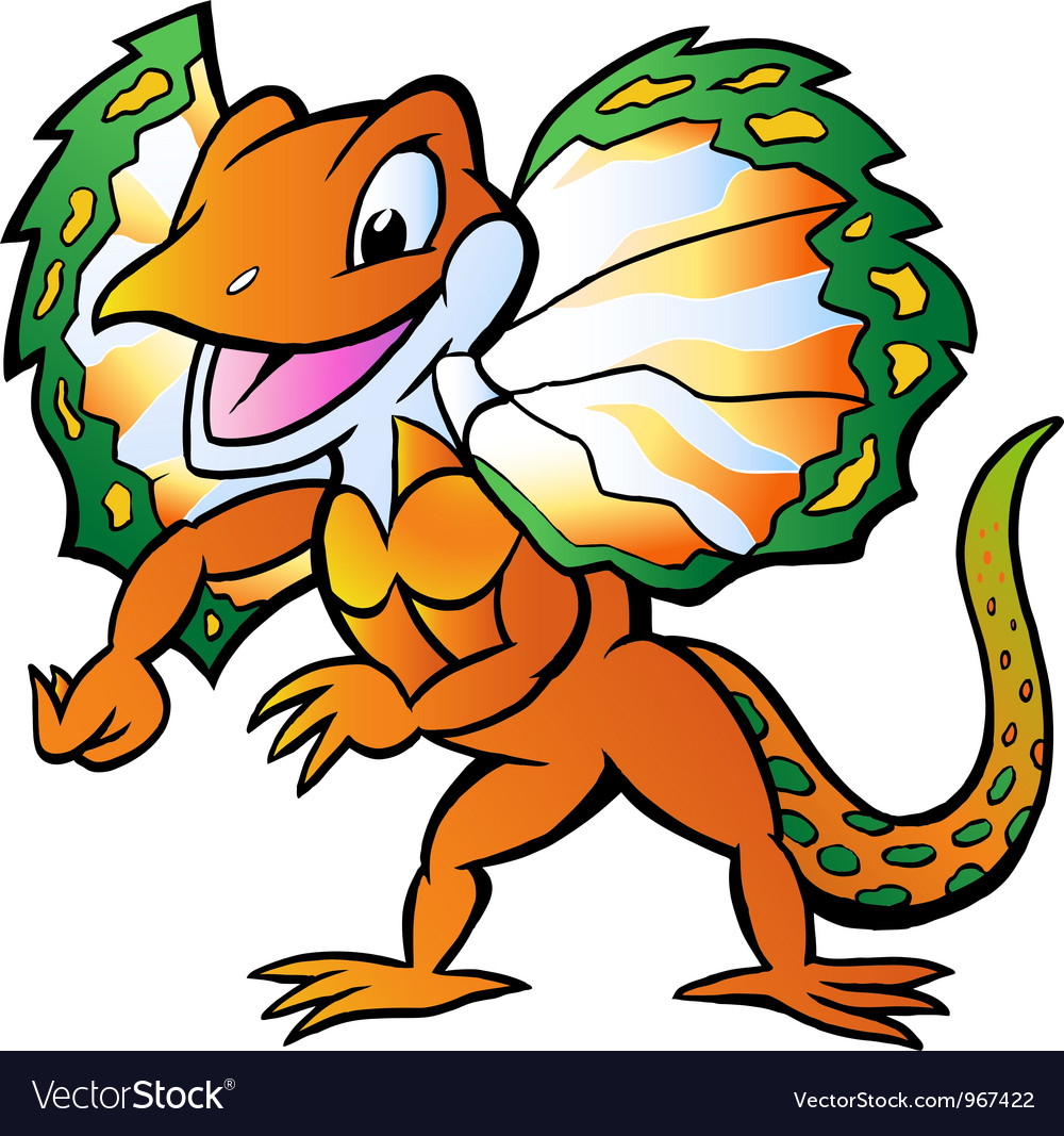 Hand-drawn of an Lizard in colorful splendor vector image