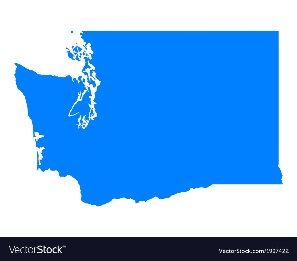 Map of Washington vector image