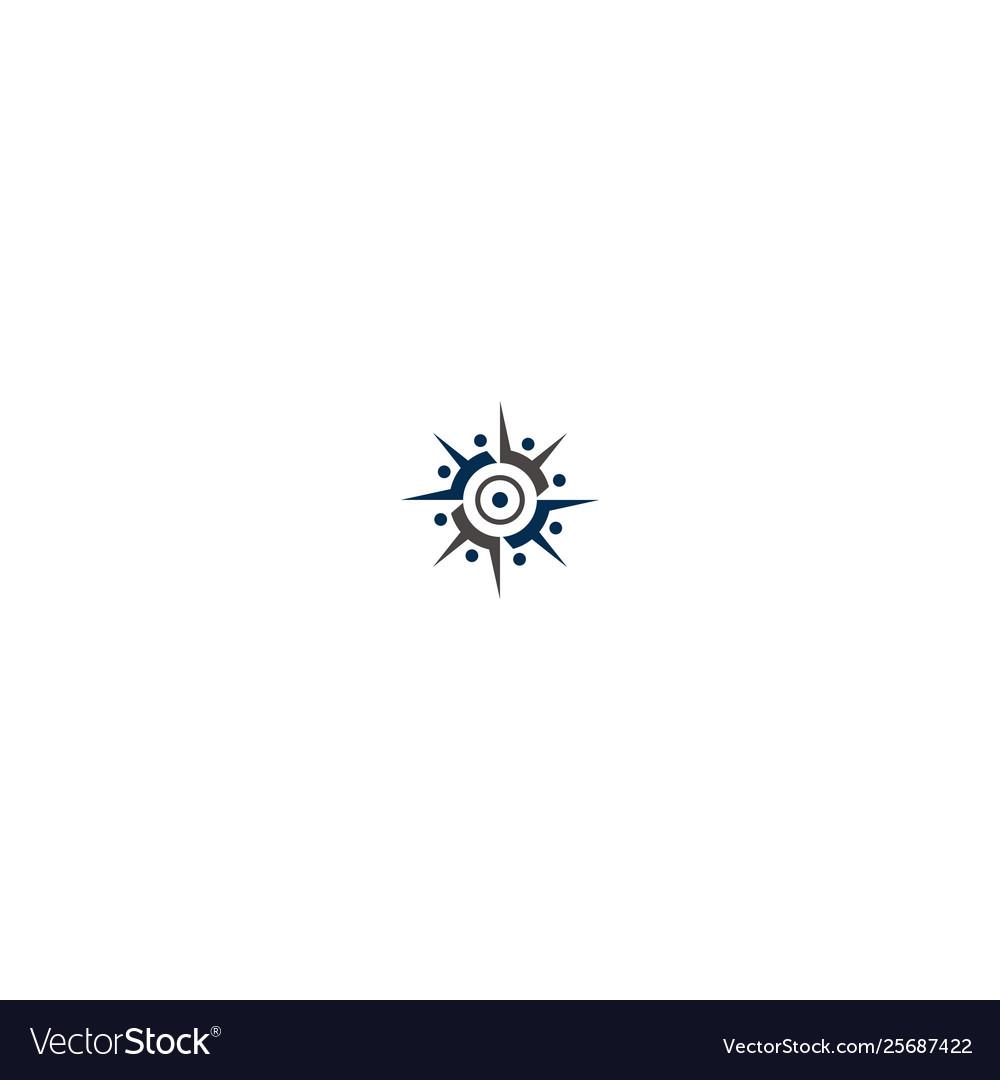 People compass logo icon design