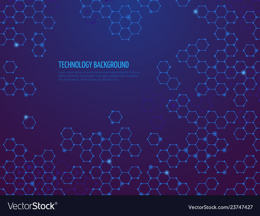 Abstract molecule background hexagon dna network