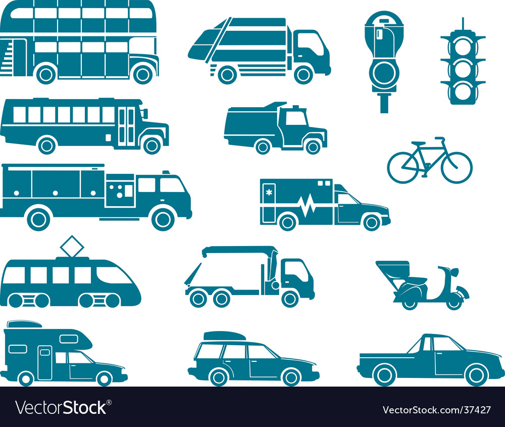 All types of city transport vector image