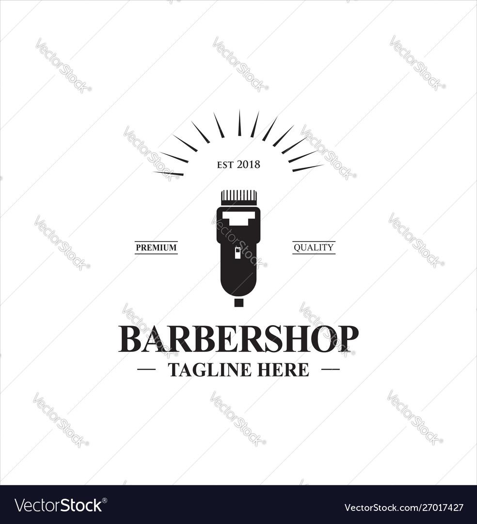 Barbershop logo design stock
