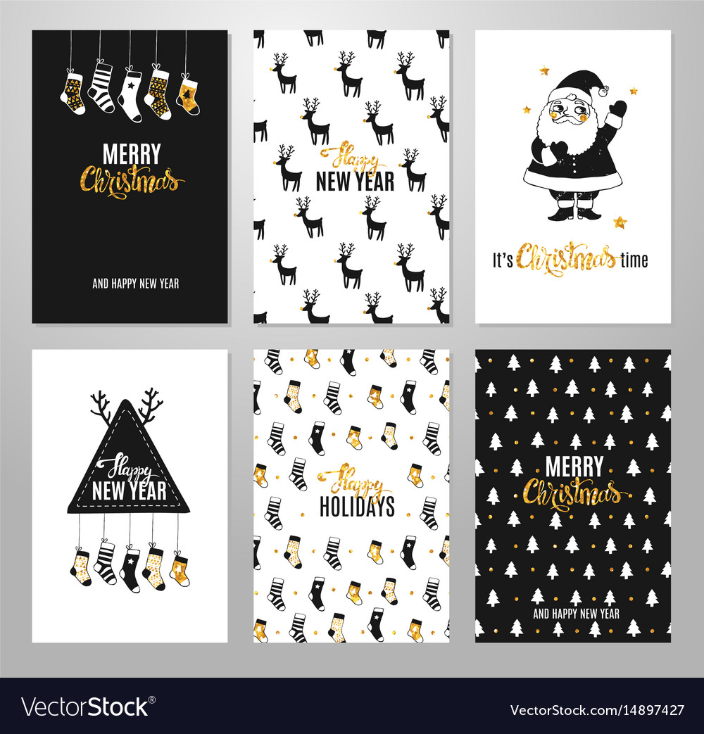 Christmas hand drawn printable cards