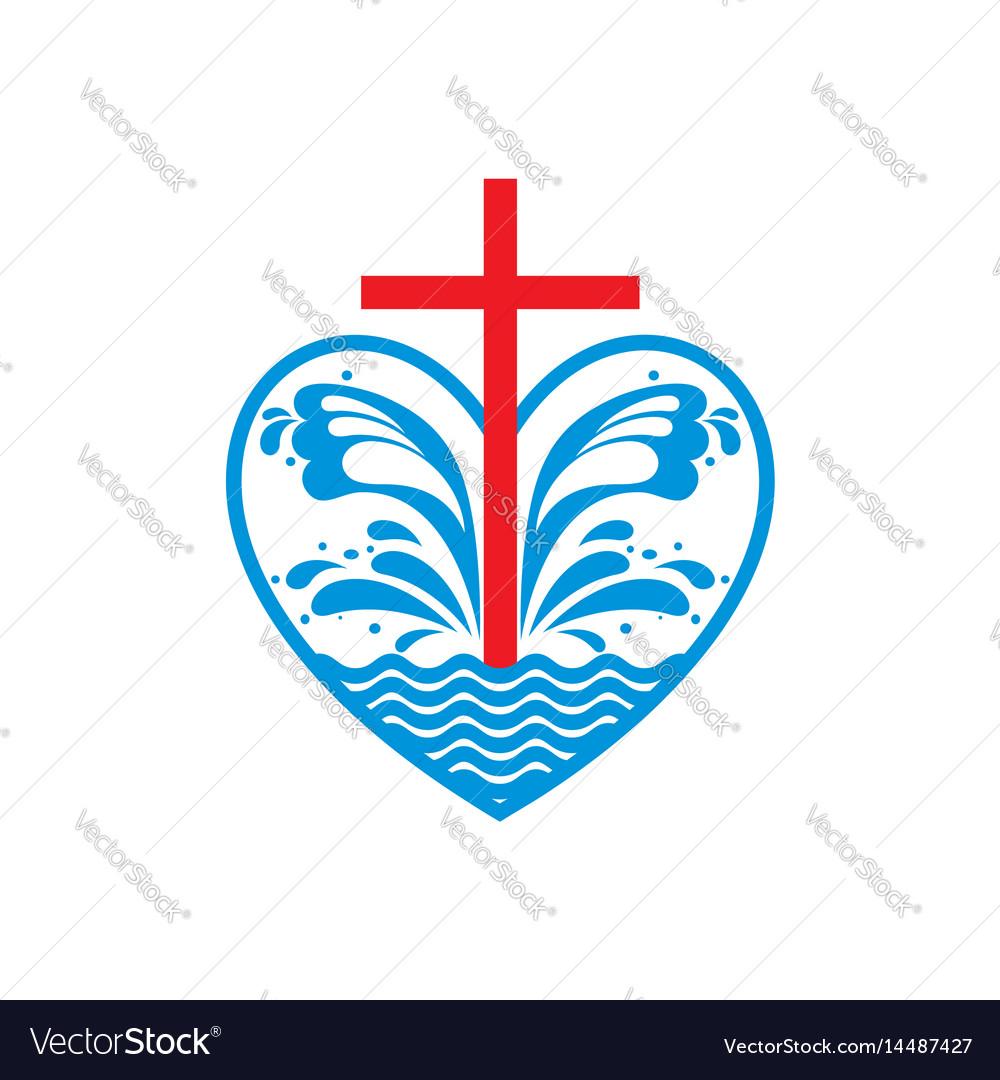 Church Logo And Christian Symbols Royalty Free Vector Image