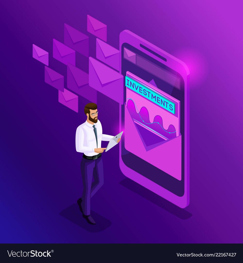 Checks By Mail >> Isometrics Businessman Checks The Mail Analytics