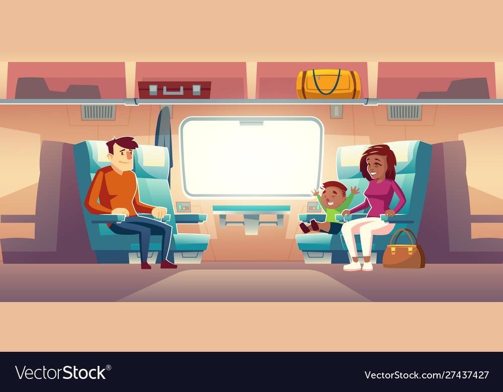 People in train passengers travel railway car