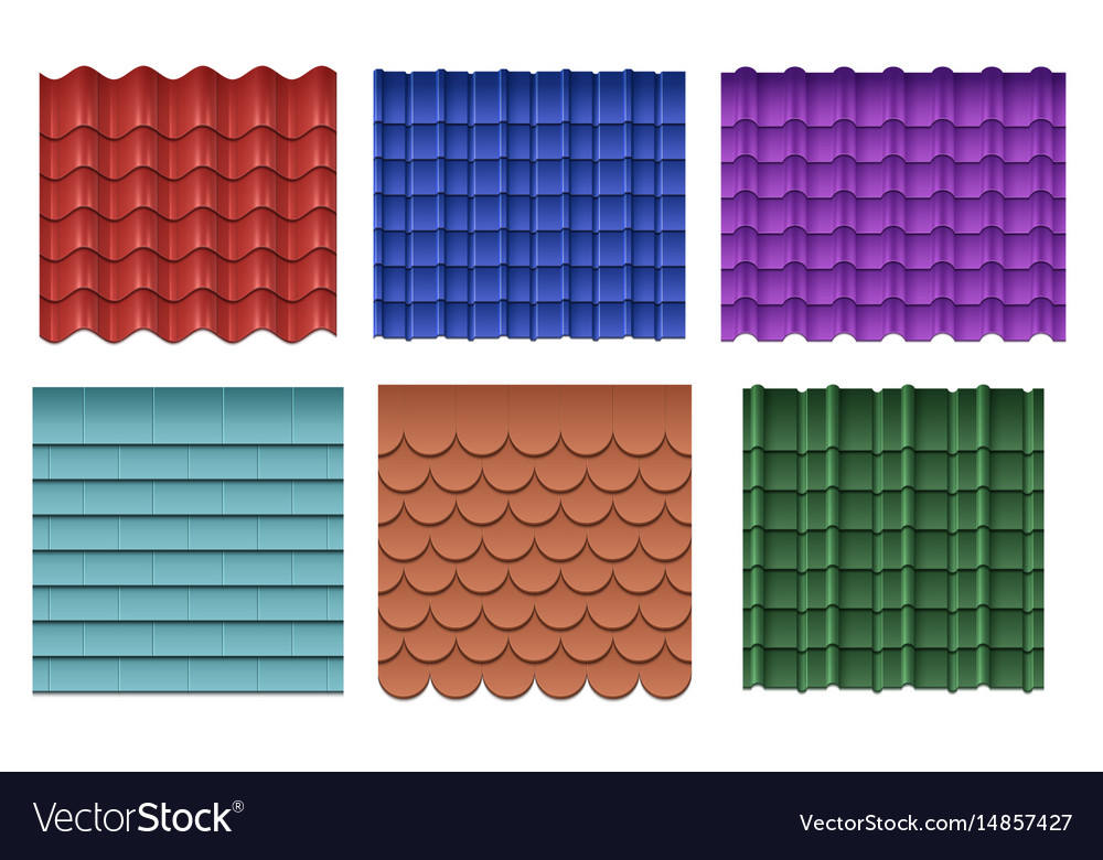 Roof Tiles Roofing Materials Set
