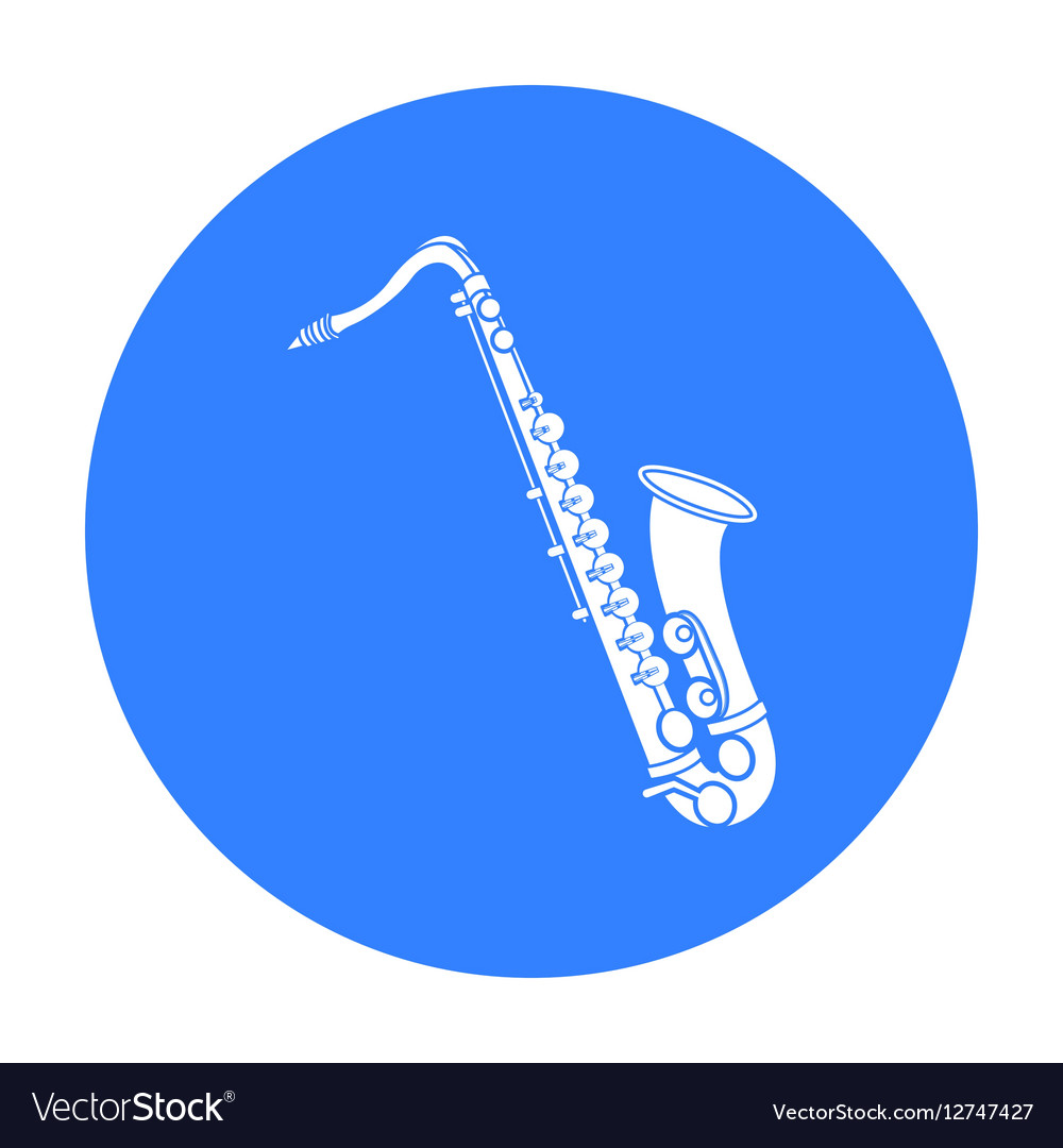 Saxophone icon in black style isolated on white vector image