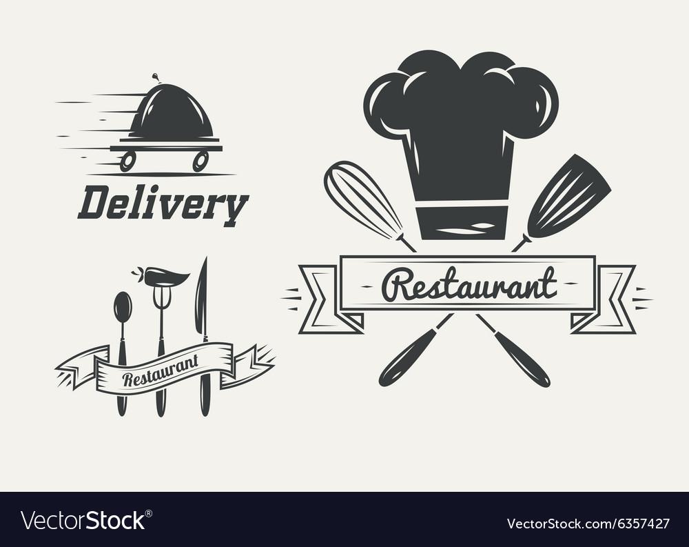 Set badges and labels elements for restaurant