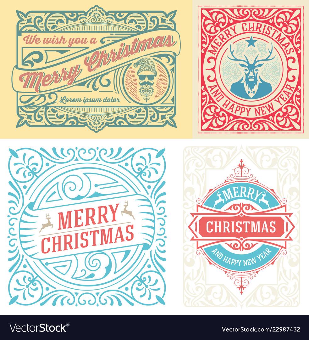 4 christmas greeting card