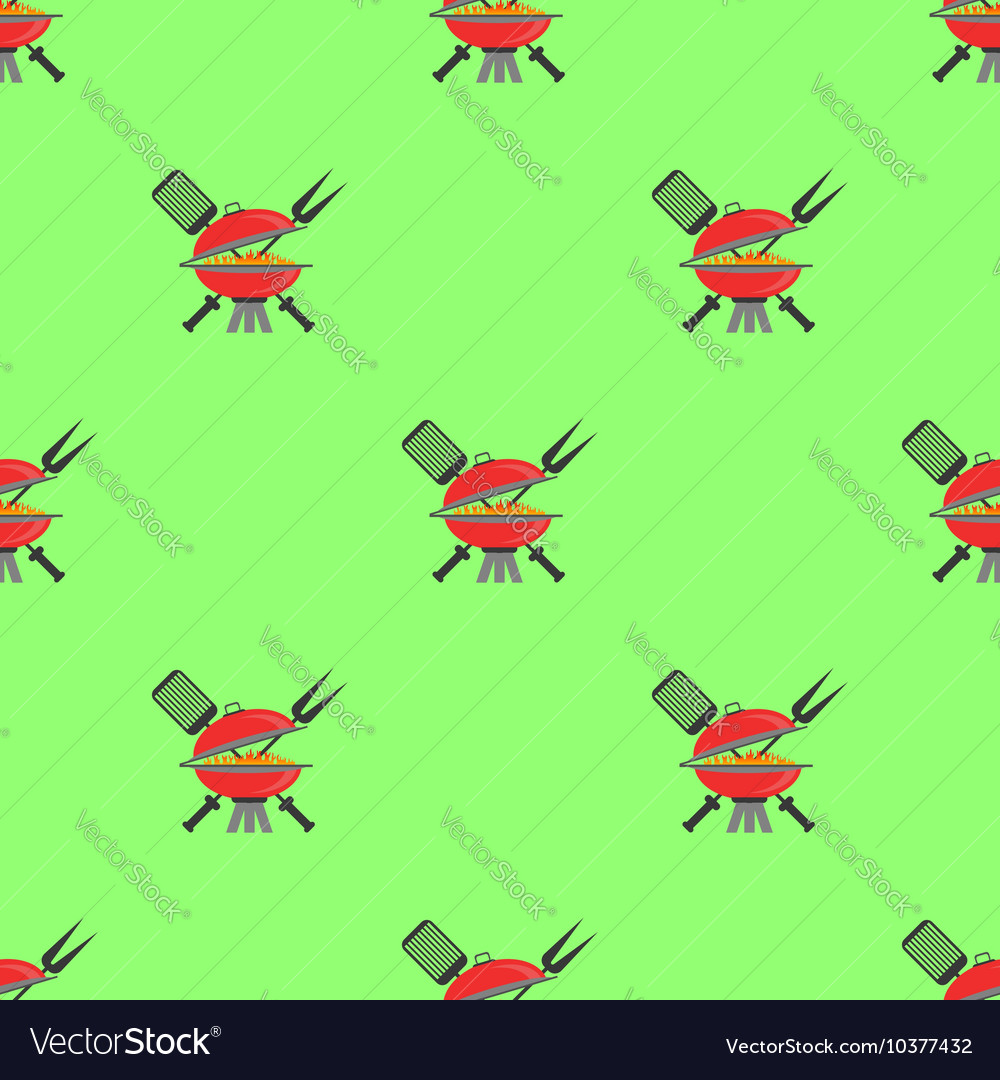 Barbeque Icon Seamless Pattern Grill Background