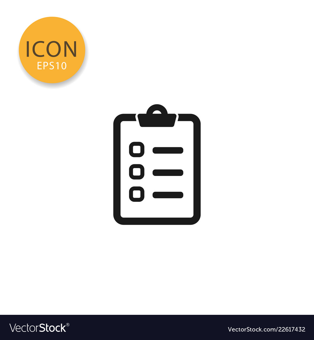 Checklist icon isolated flat style