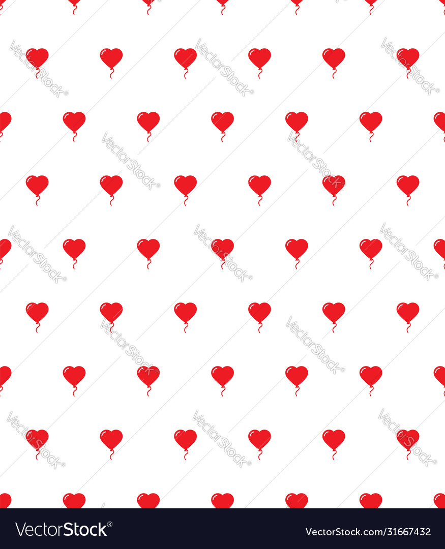Heart air balloon seamless pattern love happy