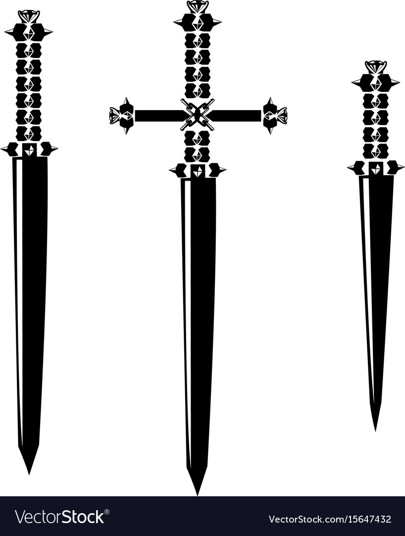 Sword silhouette set