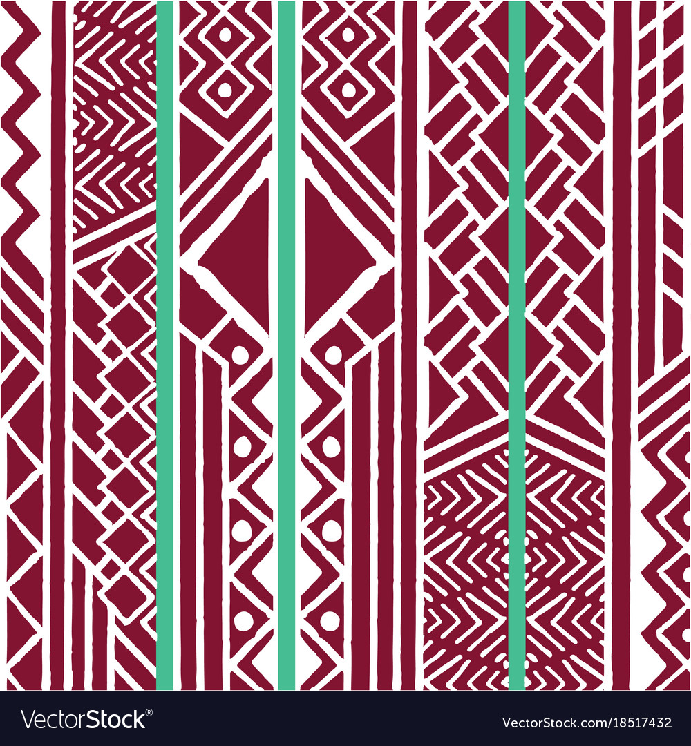 Tribal ethnic colorful bohemian pattern