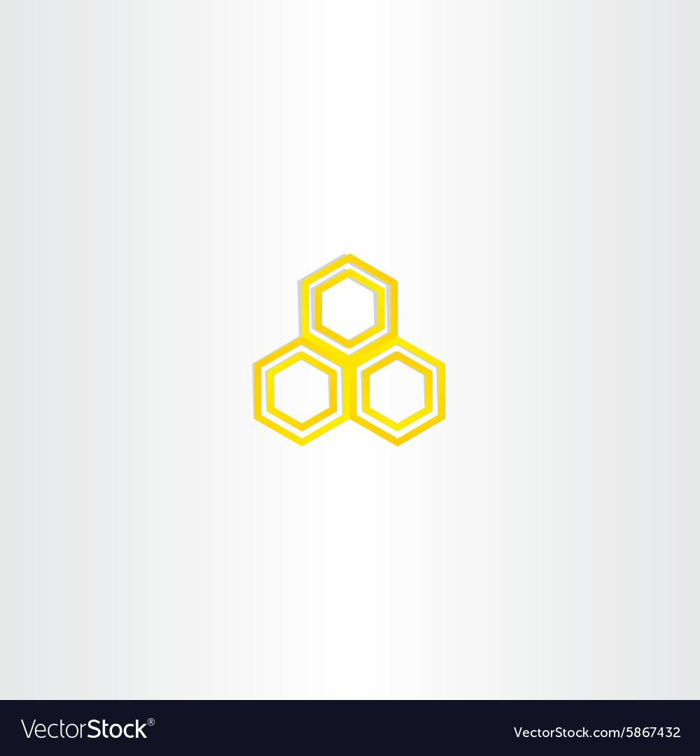 Yellow logo honey comb icon