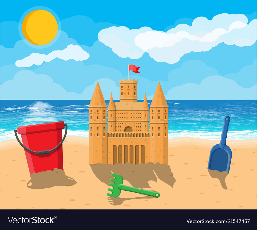 Sand Castle Royalty Free Vector Image