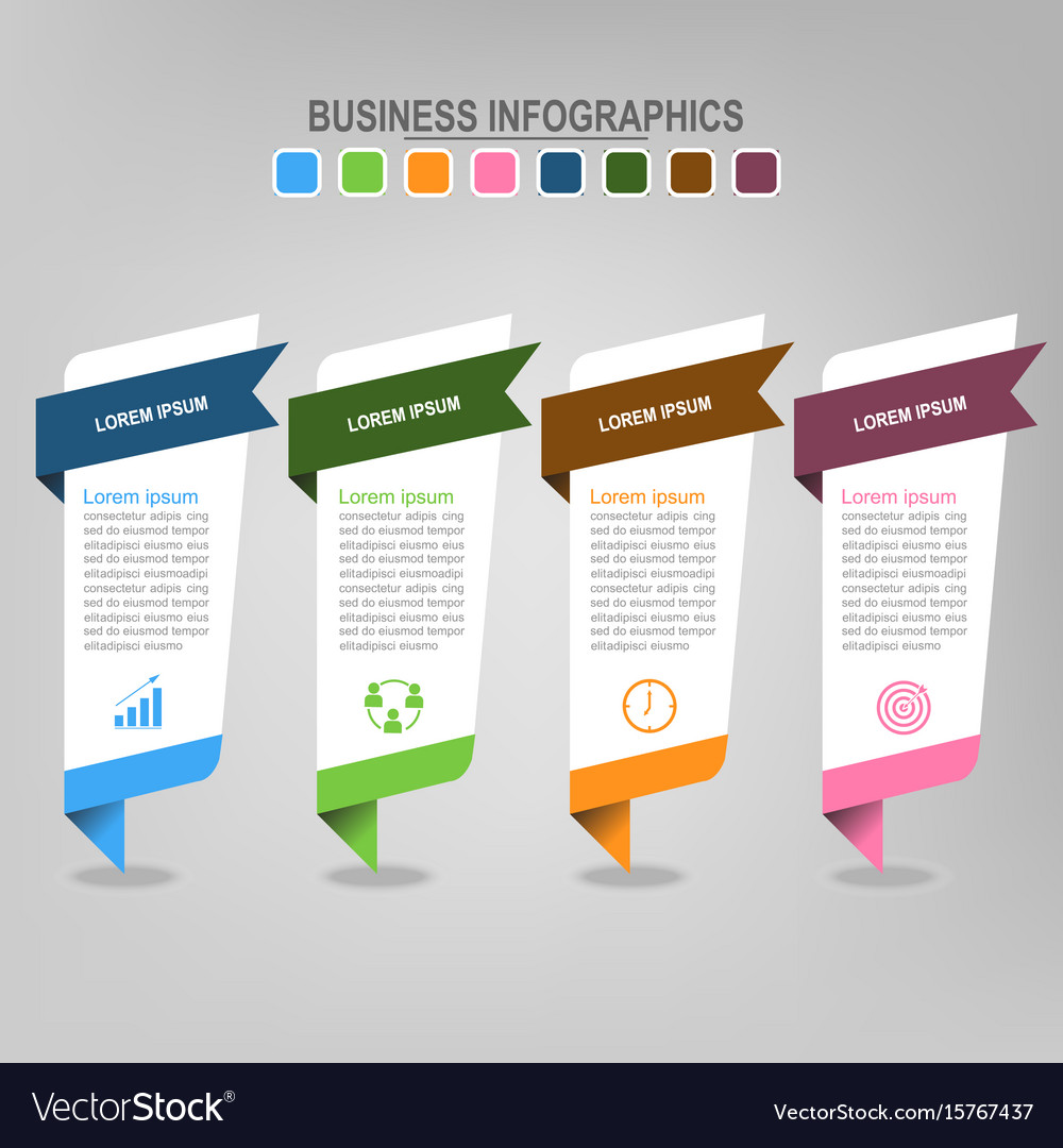 Four banners infographics business concept