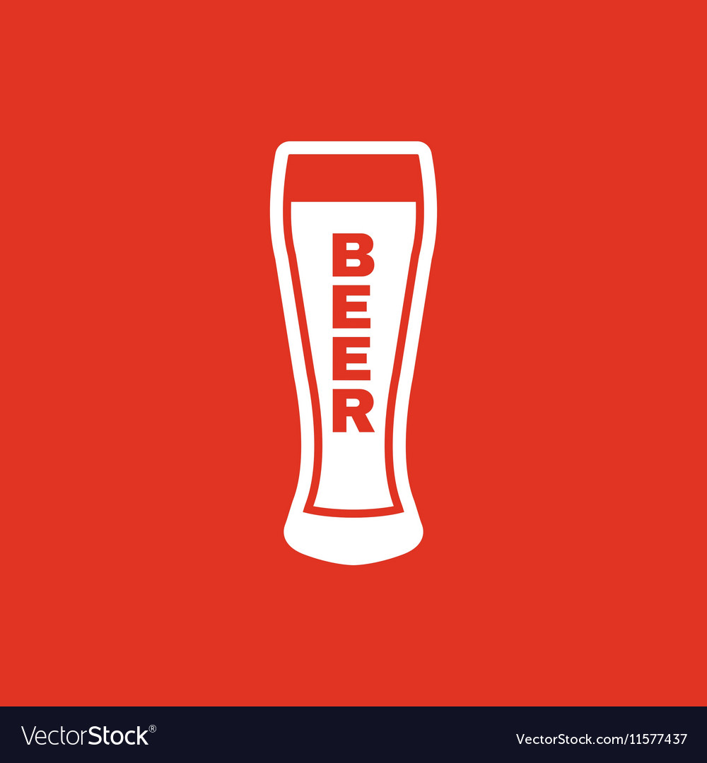 Glass of beer icon Beer and pub bar symbol UI