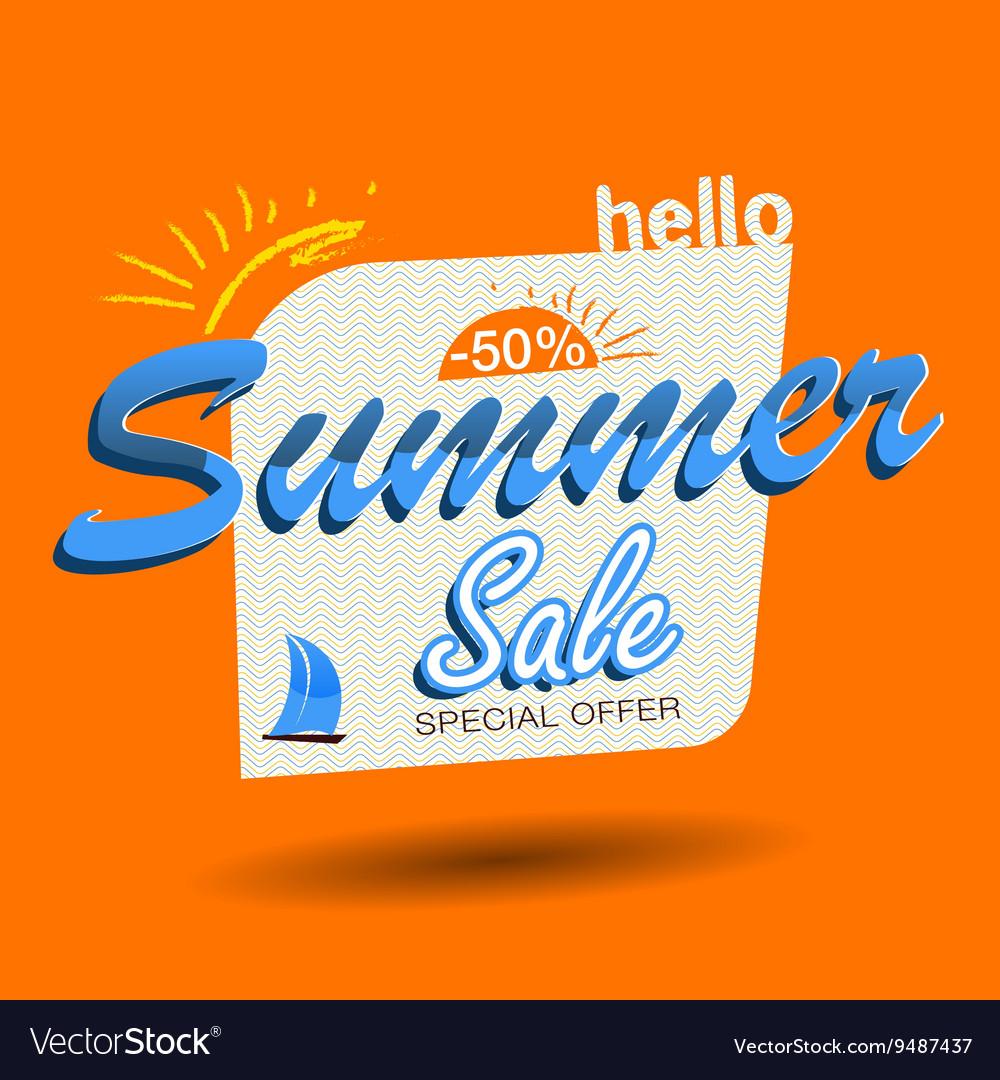 Hello summer sale vector image