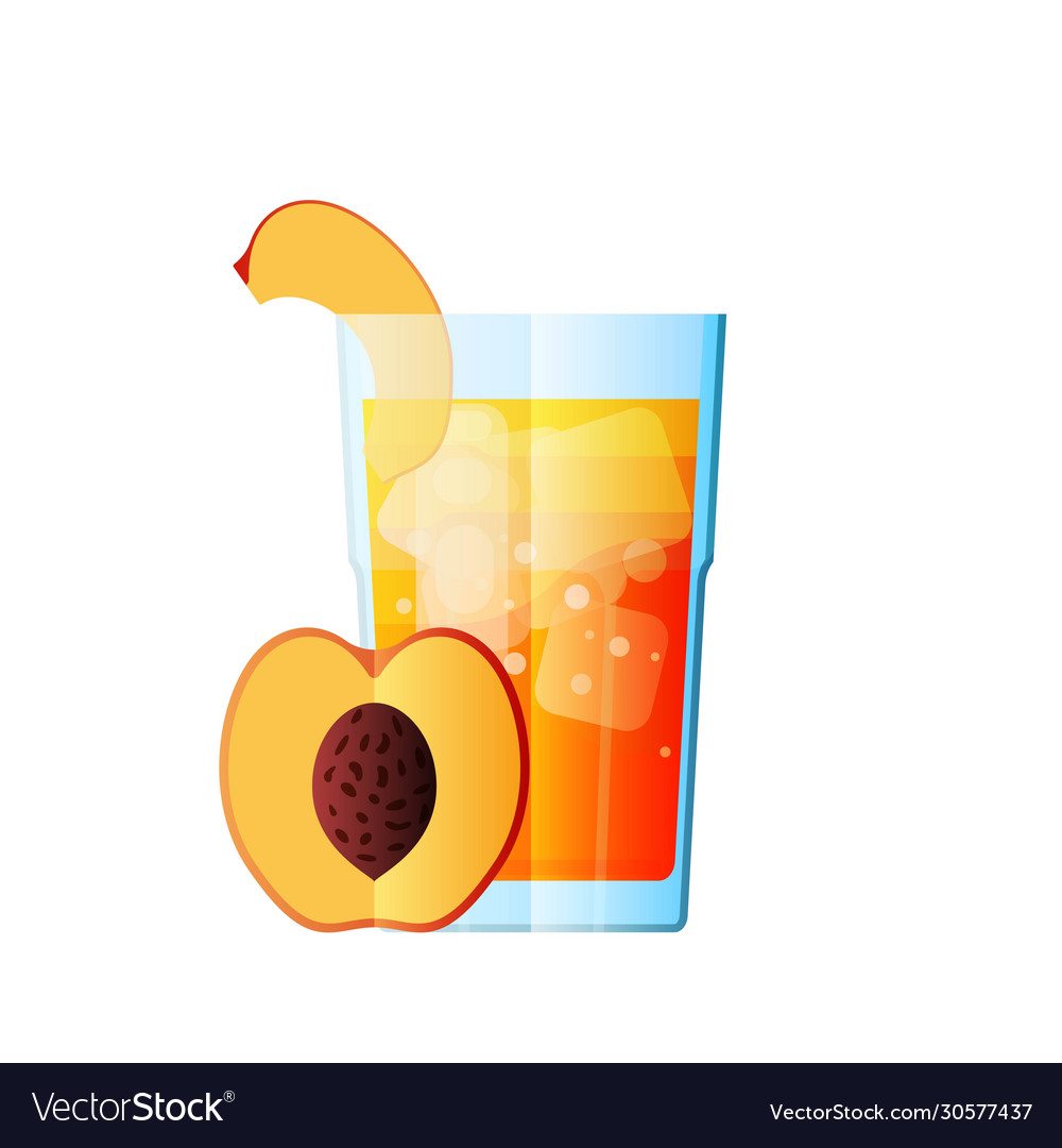 Juice peach fresh juicy glass citrus